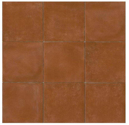 Terra Cotta Porcelain Tile 14x14 Gloss Finish Cotto Field Tile Sicilia ( Red )