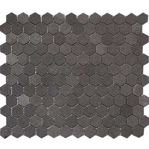 "Basalt Gray Honed 1"" Hexagons"
