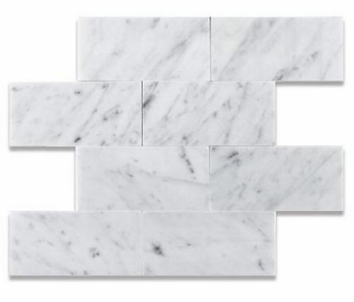 Carrara White Honed 3x6 Subway Tiles