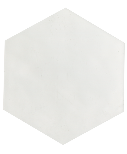 "Manzanita White Gloss 7""x8"" Hexagon Ceramic Wall Tile"