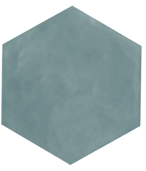 "Manzanita Aqua Gloss 7""x8"" Hexagon Ceramic Wall Tile"
