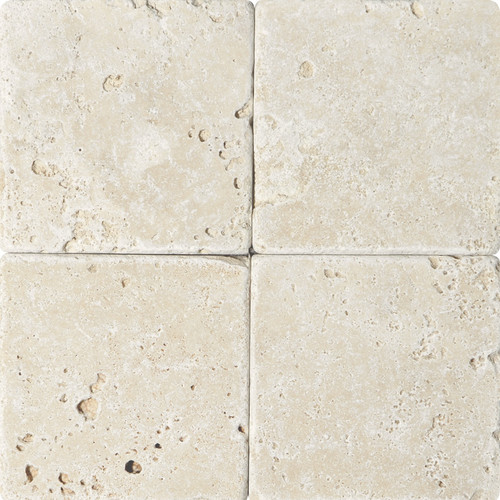 """Ivory Tumbled 6""""x6"""" Travertine Tiles $2.99 Sq. Ft. (While Supplies Last)"""