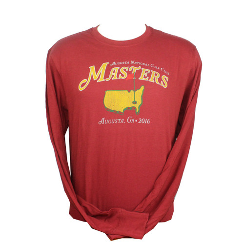 Masters Vintage Long Sleeve Red T-Shirt