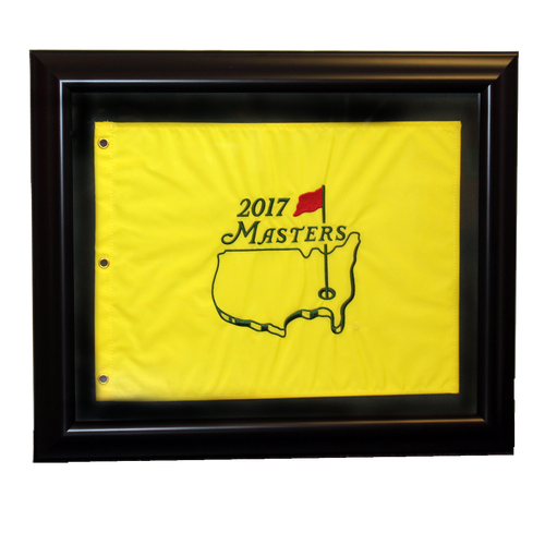 2017 Masters Golf Pin Flag - Framed
