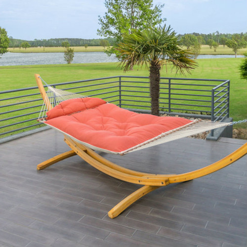 Hatteras Hammock with Roman Arc Wood Stand