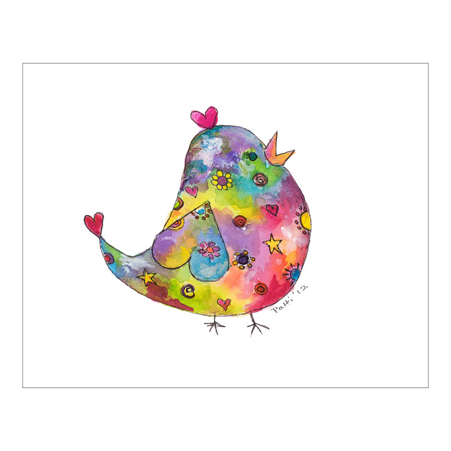 Whimsical Fat Bird