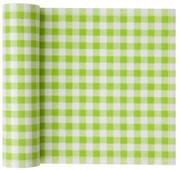 Pistachio Vichy Cotton Printed Luncheon Napkin - 20 Units Per Roll