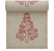 Natural with Tree Linen Printed Luncheon Napkin