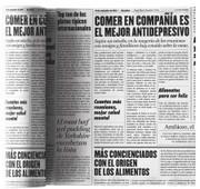 Newspaper Printed  Cotton Luncheon Napkin