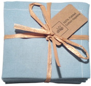 Sky Blue Cotton Folded Napkin Wholesale (20 Units)