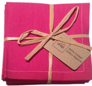 Fuchsia Cotton Folded Napkin Wholesale (20 Units)
