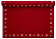 Red with Snowflake Cotton Printed Placemat Wholesale (10 Rolls)