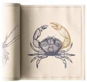 Ocean Organic  Cotton Printed Luncheon Napkin