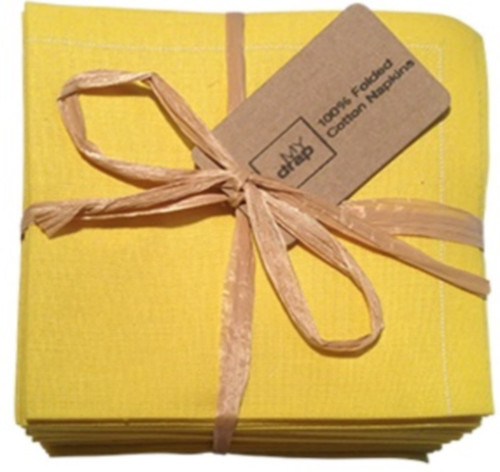 Lemon Cotton Folded Napkin