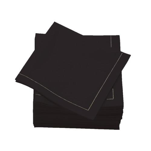 Black  Cotton Folded  Luncheon Napkins -  600 units per case