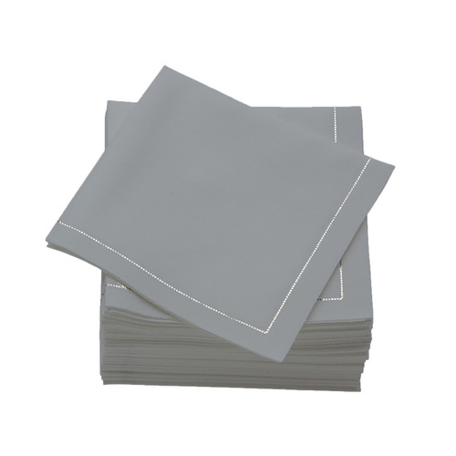 Pearl Grey  Cotton Folded  Luncheon Napkins -  600 units per case