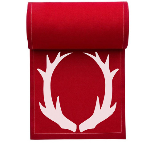 Antlers Cotton Printed Cocktail Napkin