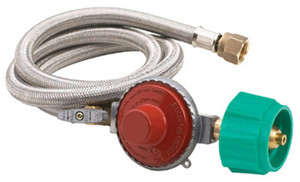 "Bayou Classic 48""Stainless Braided Hose/Regulator-10psi-M5HPR-1"