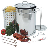 32 qt. Stainless Steel Turkey Fryer Pot - 1118