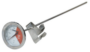 "12"" Stainless Steel Thermometer - 5025"