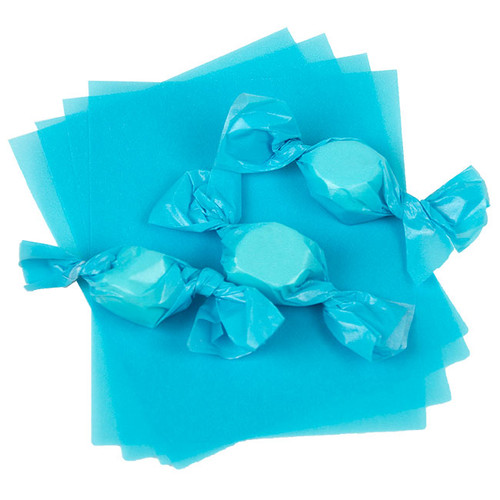 Light Blue Caramel Wrappers