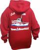 Red Zip hoodie Back