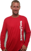 TBUS Mens Long Sleeve  Moisture Wicking Tee, Red available in XL only for now. For more red long sleeve sizes, see product Ice Tee.
