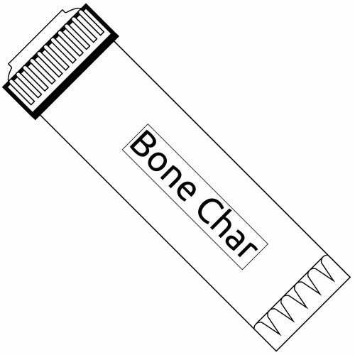 10-inch Bone Char Carbon Filter - Reduces or Removes Fluoride, Arsenic, Radioactive Particles, and Toxic Metals