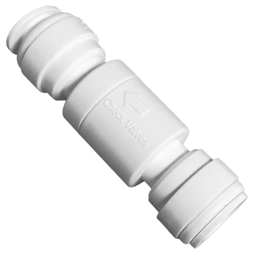 Inline Check Valve with 3/8-inch Quick Connect Fittings