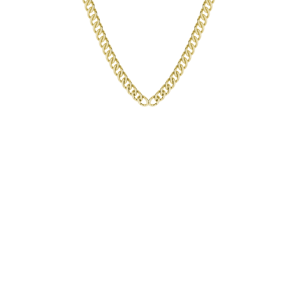 9ct yellow gold safety chain
