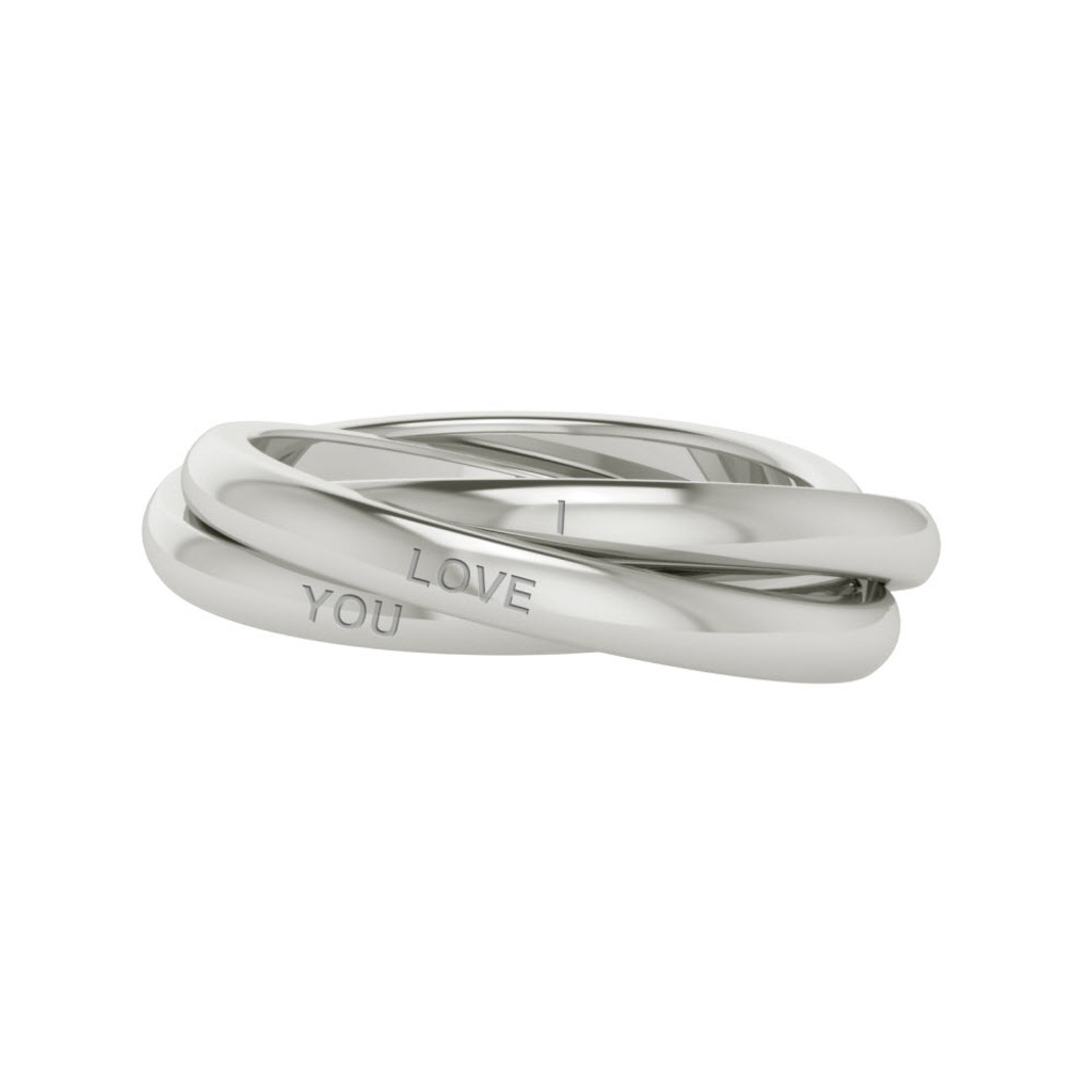 Russian Wedding Ring Willow 9ct White Gold StyleRocks