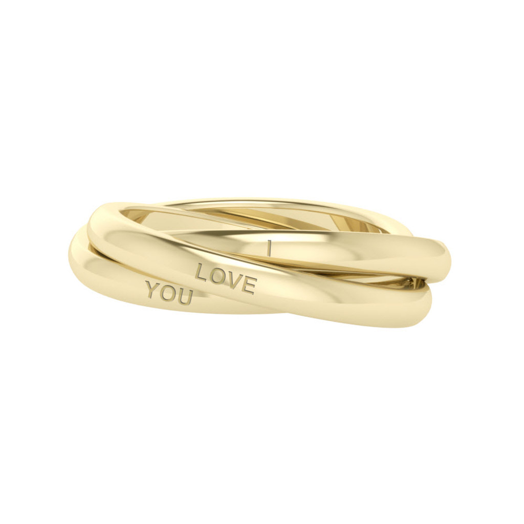 Russian Wedding Ring Willow 9ct Yellow Gold StyleRocks