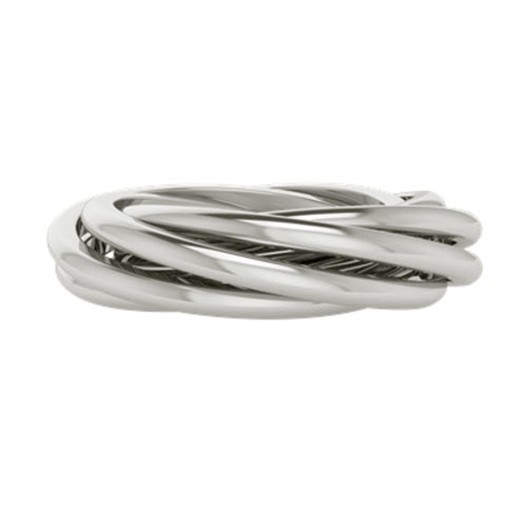 Double Russian Wedding Ring - Gemelle - Sterling Silver