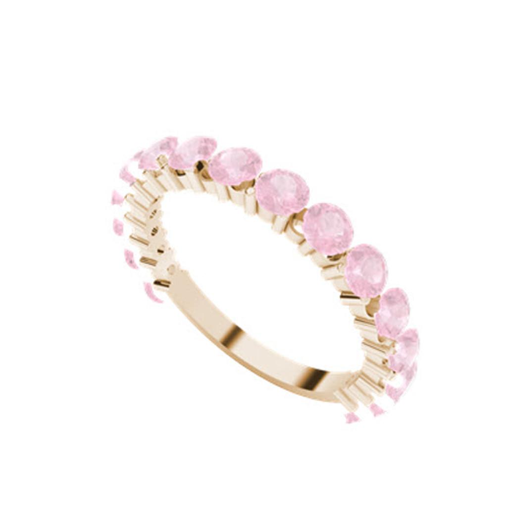 stylerocks-full-round-brilliant-cut-pink-sapphire-rose-gold-wedding-ring-on-hand