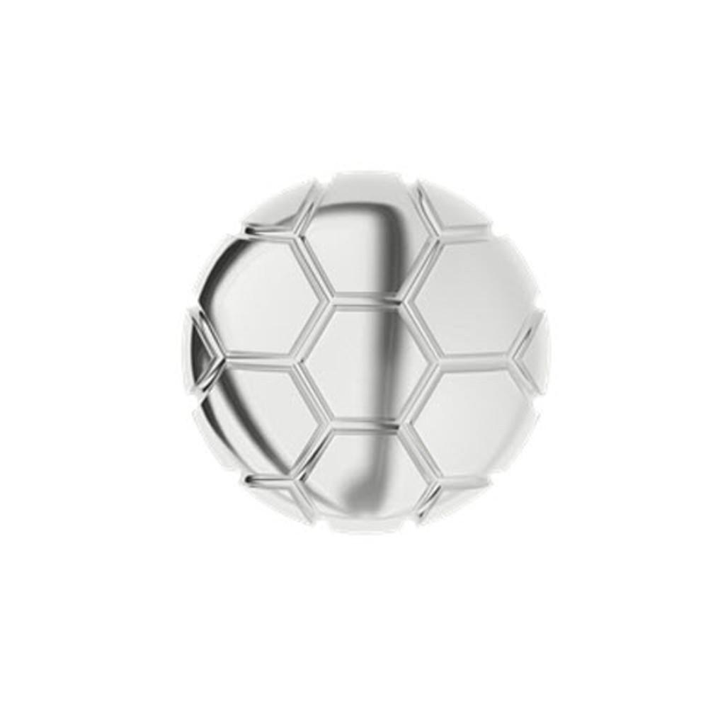 Soccer Ball Silver Cufflinks