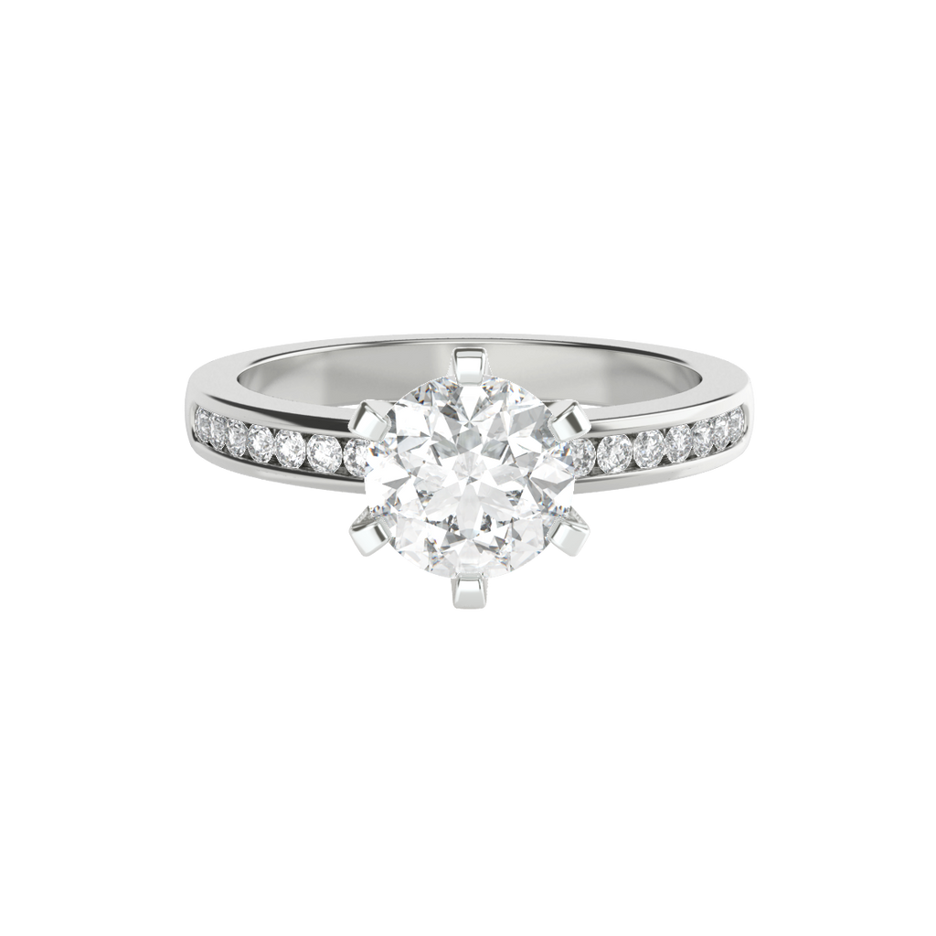 with claw ring engagement brilliant rings diamond round band valentina solitaire cut white gold bands