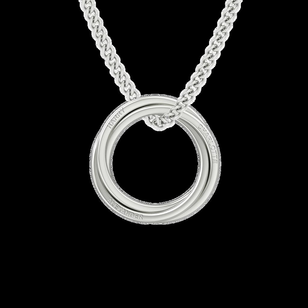 StyleRocks Russian Rings Necklace - Sterling Silver - 45cm hLQDi