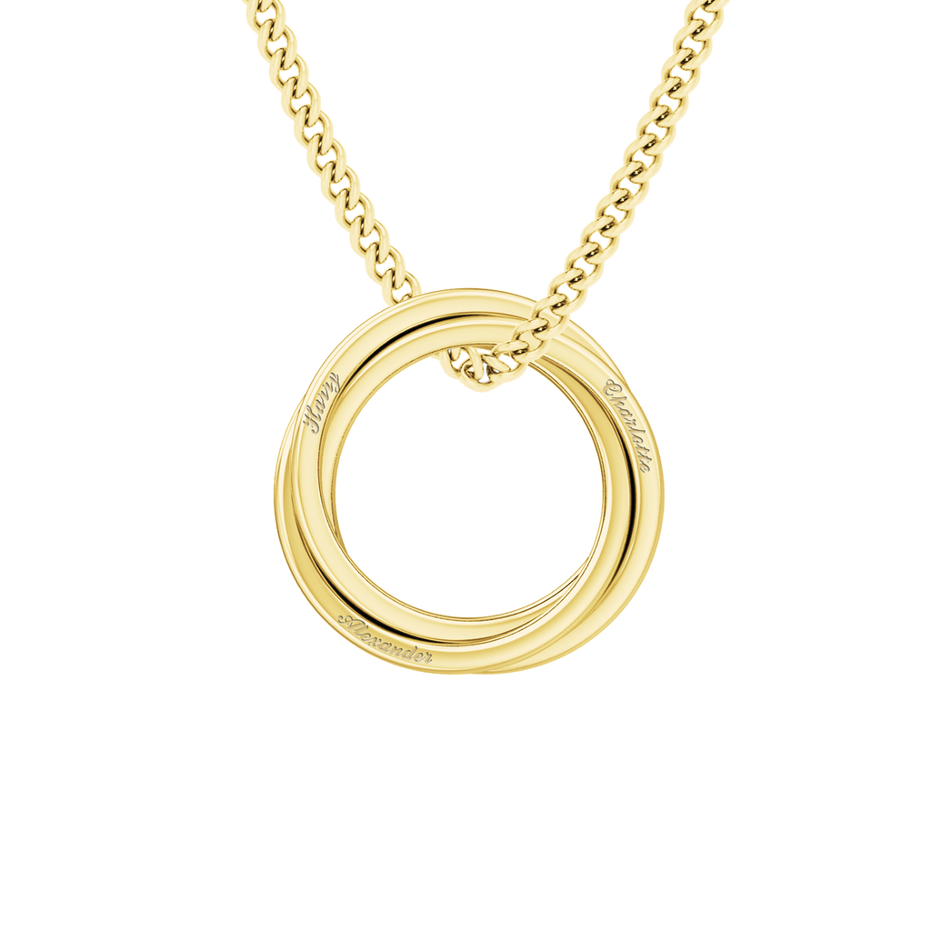 Russian Ring Necklace - the 'Zara' - 9ct Yellow Gold
