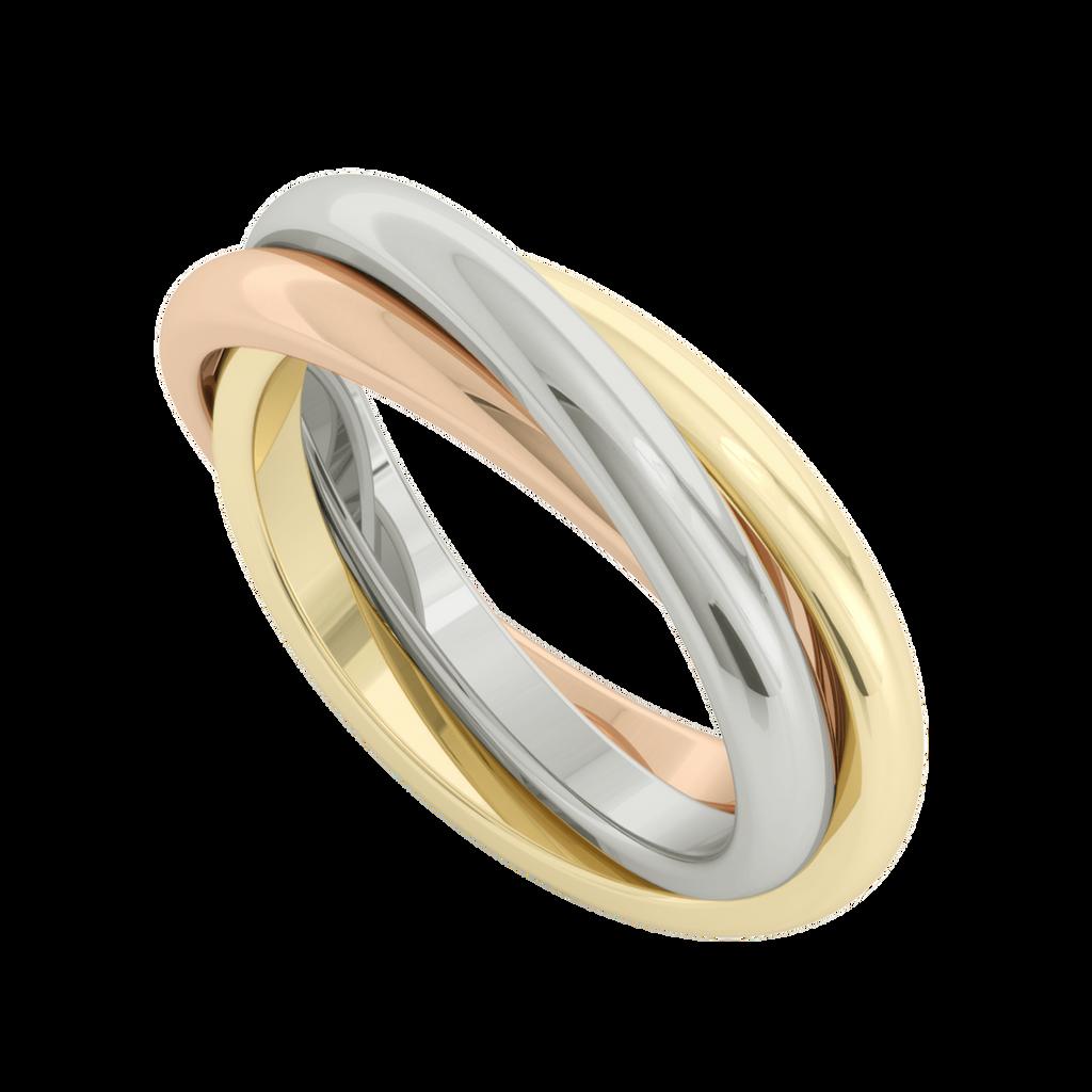 Russian Wedding Ring - Willow - 9ct Multi Gold - StyleRocks