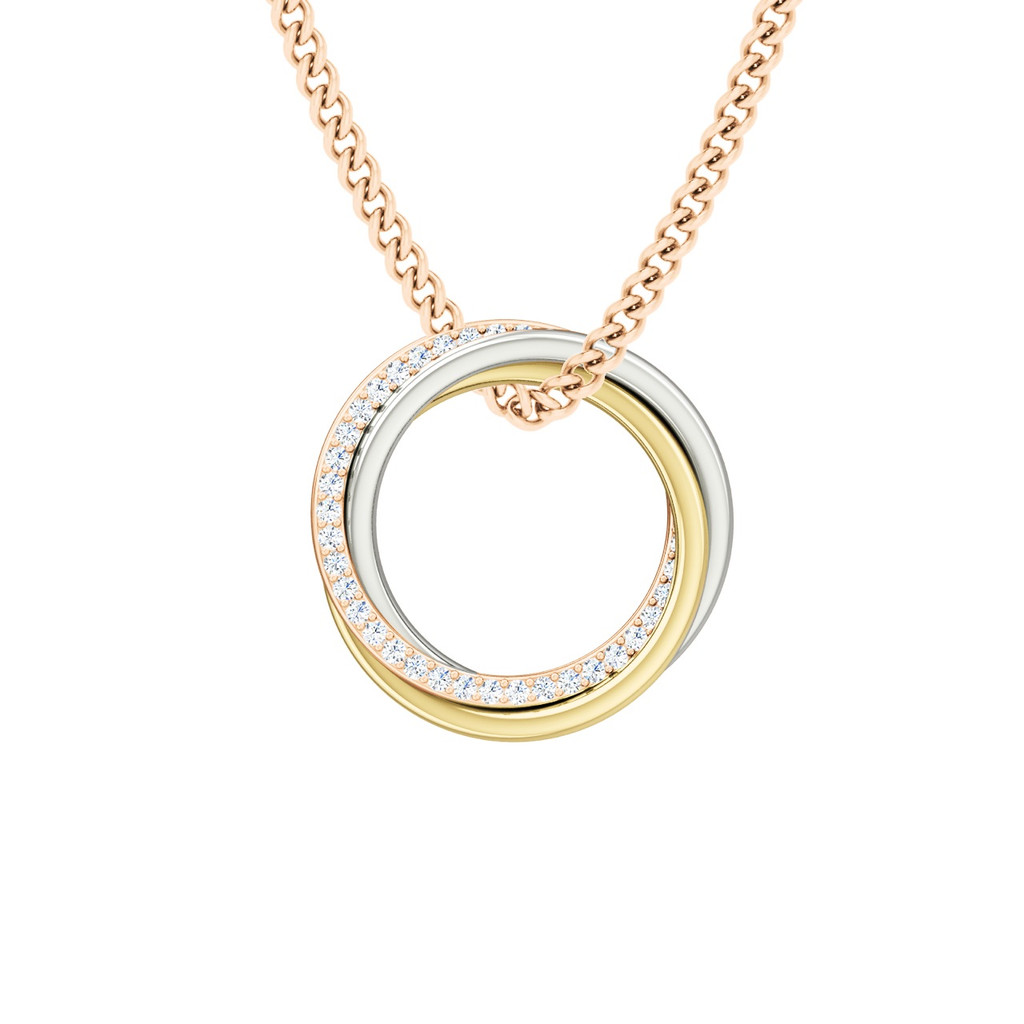 rhodium ring gold sophisticated necklaces double novaluzjewelry sterling necklace plated for women silver diamond products pendant