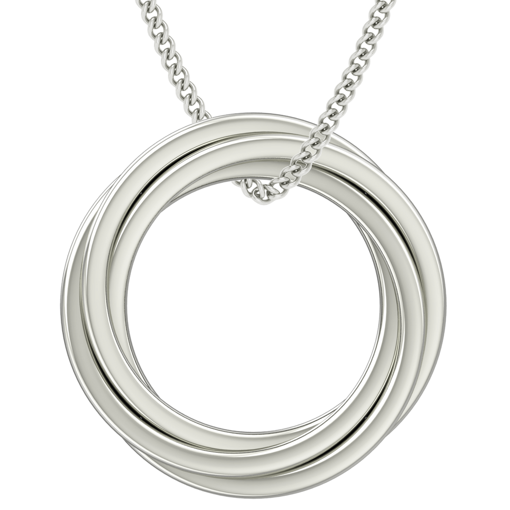 Russian Ring Necklace - the 'Catherine' - 9ct White Gold