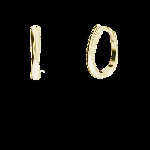 Yellow Gold Drop Hoop Earrings