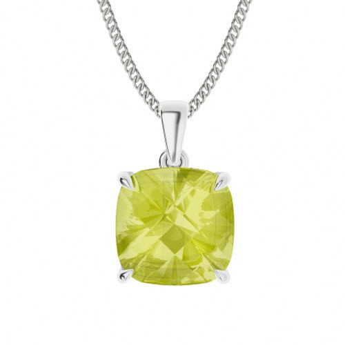 Lemon Quartz Sterling Silver Necklace