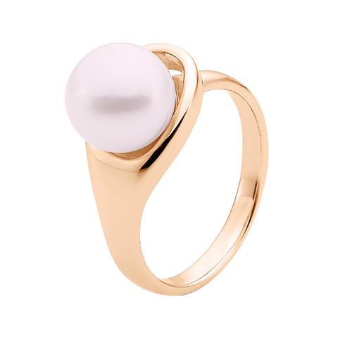 9ct Rose Gold Pink Pearl Ring
