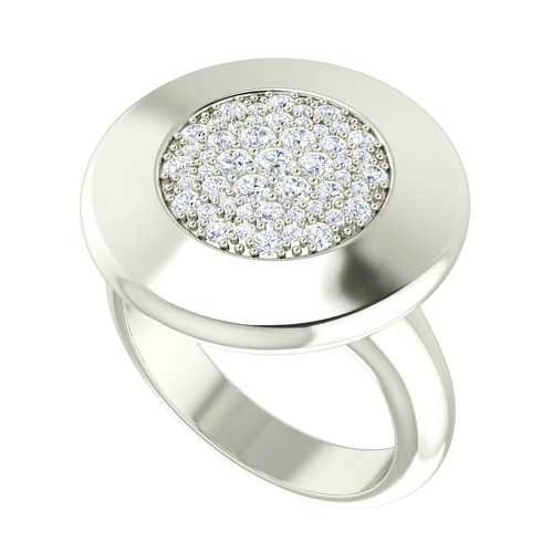 Diamond Raindrops Ring 9 Carat White Gold