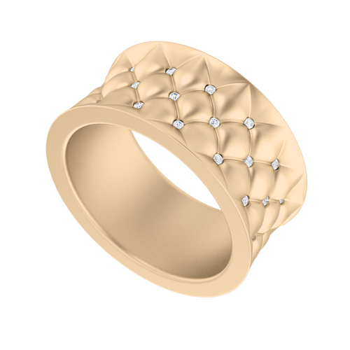 Lattice Diamond Ring 9 Carat Rose Gold