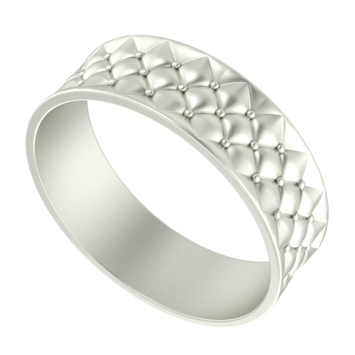 Lattice Bangle 9 Carat White Gold