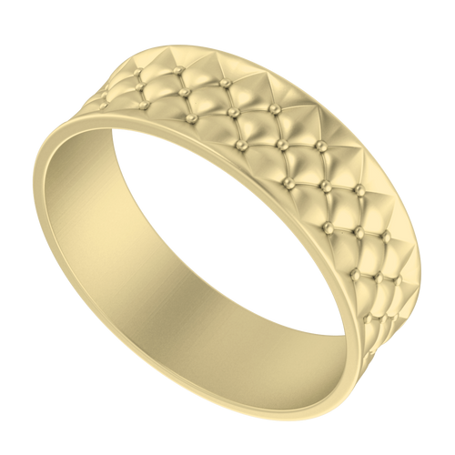 Lattice Bangle 18 Carat Yellow Gold