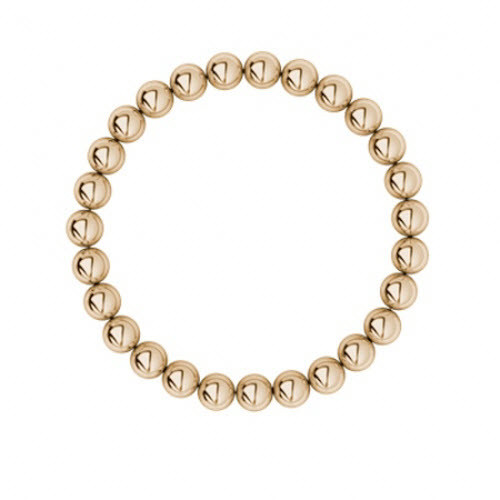 9ct Rose Gold Bead Bracelet