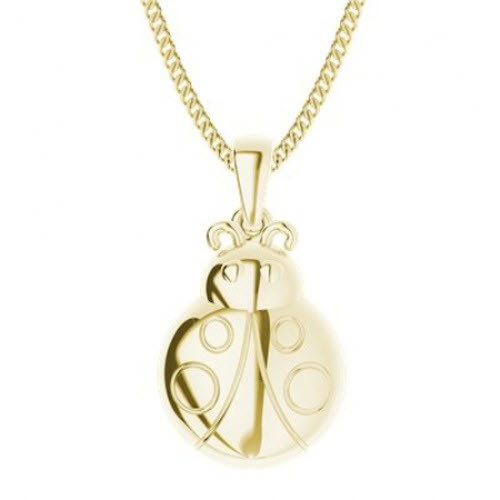 Yellow Gold-Plate Ladybird Necklace